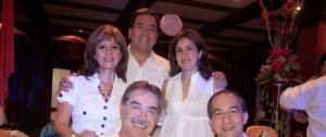 David Peña y Juan Carlos Franco. Atrás: Ayde Mendoza, José Ignacio Salamanca y Marlene Segura.