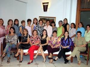 Alba Gutiérrez, Martha Ledesma, Helide Castillo, María Rodríguez, Blanca Ortiz, Rosalba Arias, Bertha Centeno, Yolanda Salamanca y Lucy Ledesma.