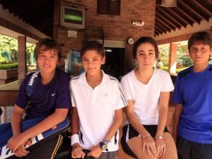 Sergio Serrano, Carlos García, María Paula Gómez y David Felipe Serrano.
