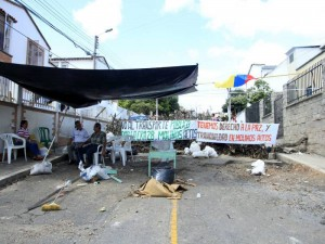 Así fue la protesta de los residentes de la carrera 28.
