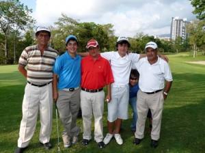 Jorge Ramírez, Santiago Jaimes, William Cordero, Iván Camilo Ramírez y Jorge Vargas.