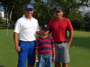 Henry Cuevas, Juan Pablo Serrato y Frank Serrato.