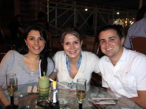 Ana Isabel Rivera, Patricia Monsalve y Sergio Jaramillo.