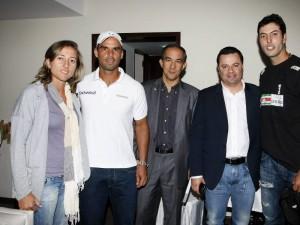Catalina Castaño, Alejandro Falla, Juan Carlos Franco, gerente regional Santander Seguros Bolívar; Diego Fernando Mendoza, director Indersantander, y Carlos Salamanca.