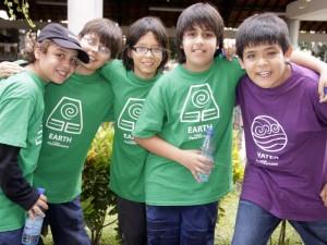 Estudiantes del Colegio Panamericano: Julián Eduardo Avellaneda, Andrés José Ruiz Uribe, Emanuel Navas Castro, Mario Andrés