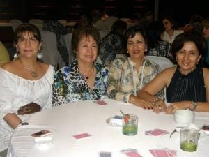 Ofelia de García, Betty de Gómez, Martha Ariza y Cris Varela.