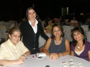 Claudia Castillo, Carolina Reyes Castillo, Patricia Matajira y Estela Becerra.