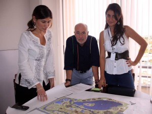 Nancy Juliana García, Hermann Alfonzo y Laura Mariño, directores del proyecto Acualago.
