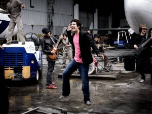 Efraín Ardila en el rodaje del video