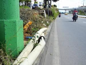 Por el costado de Cañaveral oriental existe un monte en donde se desprende gran cantidad de tubos que no solo le dan mal aspecto al sector sino que ponen en peligro a la comunidad.