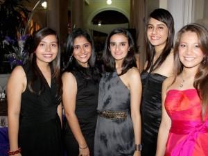 Paula Marcela Silva Salcedo, Andrea Villabona Suárez, Estefanía Serrano Ramírez, María Fernanda Millán Sabogal y María José Quiroga Gómez.