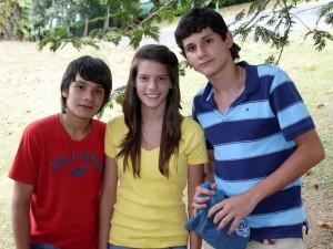 Andrés Jiménez, Stephanía Rugeles y Sebastián Jiménez.