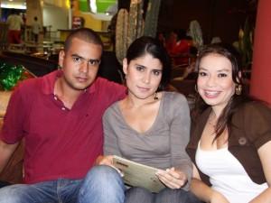 Félix Cristancho, Carol Bueno y Laura Rosales.
