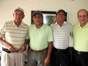 Pedro Pinzón, Jorge Hernández, Justo Torres y Enrique Bonilla.