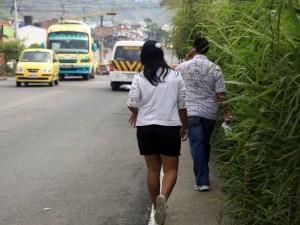 Camino que lleva desde el puente de Cañaveral hasta el semáforo que da inicio a Lagos.