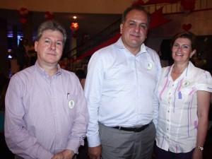 Álvaro Torres, Jorge León y Carmen Mendoza.