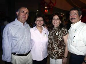 Carlos Luengas, Elsa Gómez, Cecilia Lozada y Juan Daniel Galán.