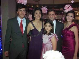 Juan David Botero, Rocío Álvarez, María Andrea Botero, Rogelio Botero y Lina María Botero.