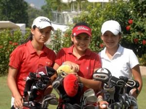Isabella Gómez, Cynthia Díaz y María Alejandra Vesga.
