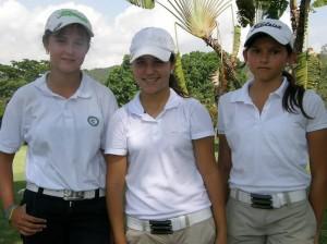 Juanita Acosta, Isabella Torres y Natalia Moros.