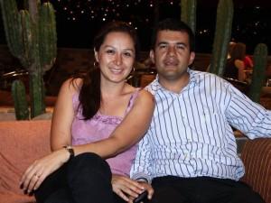 Milena Rodríguez y Saúl Barrera.