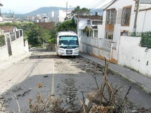 Este es el estado actual de la calle de Molinos luego de que se iniciaron las obras y no se terminaron.
