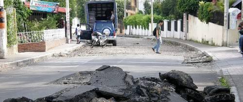 Calle de Molinos podría recibir pavimentación final