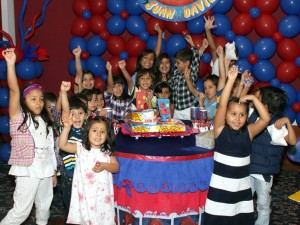 Juan David lo celebró rodeado de sus amigos y familiares.