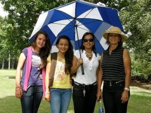 Daniela Tovar, María Alejandra Vesga, Luz Alejandra Marín y Nora Loza.