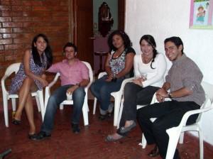 Carolina Quintero Villamarín, Jonathan Giraldo, Gessica Benavidez, Marcela Bahamón y Jonathan Quintero Villamarín.