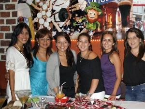 Carolina Ayala, Patricia Zapata, Jessica Marques, Carolina Yepes, Paula Solano, Mayuli Buenahora y Adriana Rueda.
