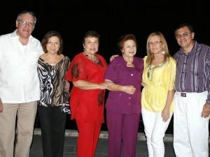 Alfonso Acosta, Gladys Mateus, Myriam Mosquera, Marielita Mateus, Elena Góngora y Oswaldo Mateus.