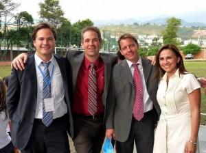 Brian Hartman, Steven Marc Desroches, Zeb Jhonson y Ángela Guarnizo.