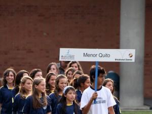 Delegación del colegio Menor de Quito.