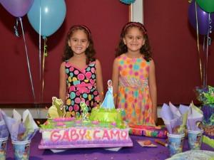 Cumpleaños de María Camila y María Gabriela.