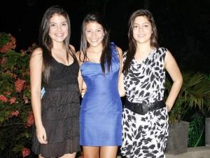 Katheleen Peña, Nadja Peña y Natalia Gómez.