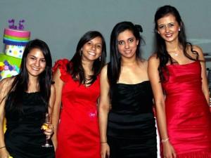 María Paula Silva, Alejandra Grissler, Daniela Jones y Carmen Juliana Villamizar.