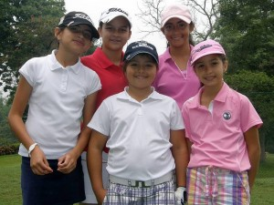 María Gabriela Loza, Isabella Gómez, Valery Plata, María Gabriela Camacho y Camila Reyes.
