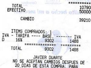 Esta es la factura donde el cliente denuncia el aumento de precio.
