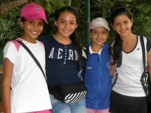 Brenda Pabón, Natalia Rodríguez, Mariana Caicedo y Andrea Martínez.