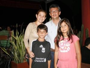 Sandra López, Javier Vargas, Felipe Vargas y Catalina Vargas.