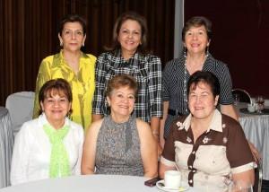 Cecilia Trujillo, Geordia de Mejía, Lucila de Gómez, Martha de Mateus, Patricia Matajira y María Antonieta Ojeda.