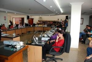 Con asistencia de todos los concejales, de funcionarios del Área Metropolitana, líderes comunitarios se cumplió la sesión del Concejo de Floridablanca.