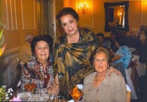 Ilba Pico de Trillos, Victoria Pinto de Serrano y Oliva Serrano de Anaya.