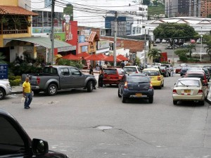 La carrera 26 es la más congestionada debido a que es la vía principal y al cruce de varias vías en todos los sentidos.