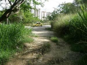 Posibilidad de hacer la vía que va detrás del conjunto La Pera.