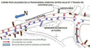 A partir de hoy sábado 16 se implementan estos cambios viales en el viaducto La Flora.