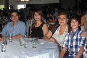 Orlando Nieto, Martha Rey de Nieto, Amparo Salas viuda de Nieto y Santiago Nieto. (FOTOS Jaime del Río)