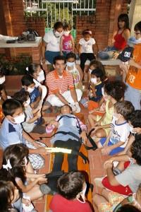 Los niños se capacitaron para saber actuar ante un desastre natural.