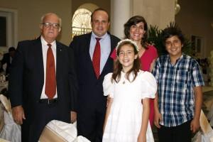 Álvaro Barrera, Juan Carlos Barrera, Claudia Orejarena, Juan Felipe Barrera y Ángela María Barrera.